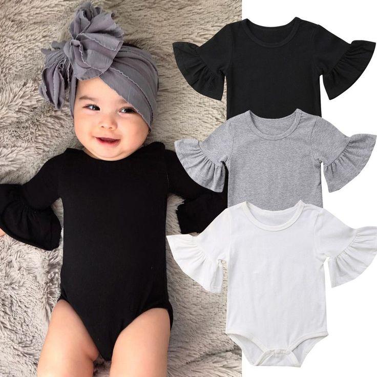 Linda 3/4 Body mit Rüschenärmeln   – babyGURL cofer