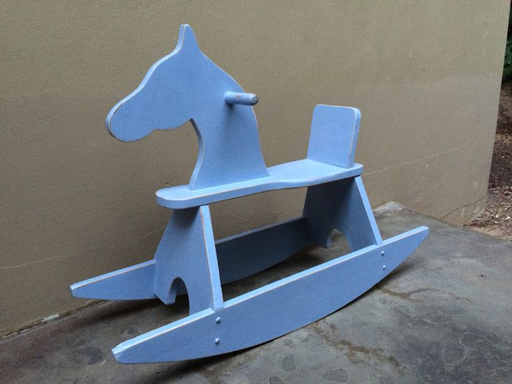 Rocking Horse in Louis Blue slightly distressed!