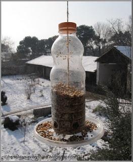 Recycle :   Bird feeder - Kuş yemliği