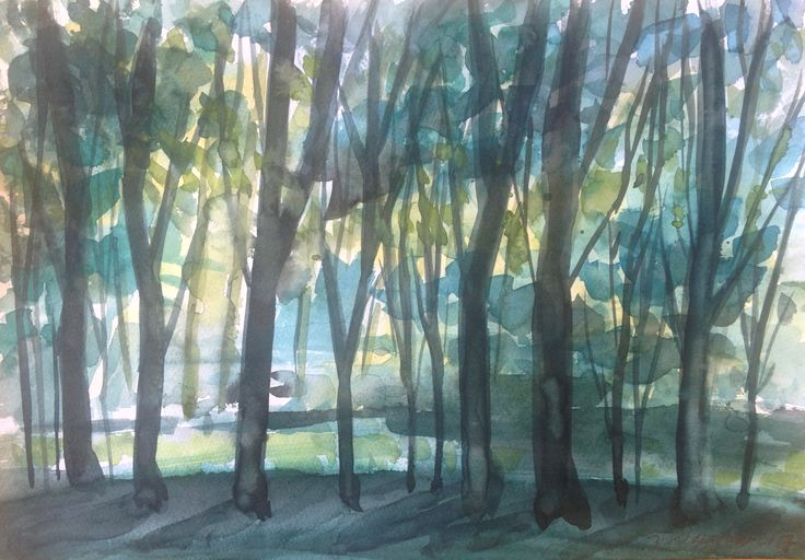 Forrest #watercolor