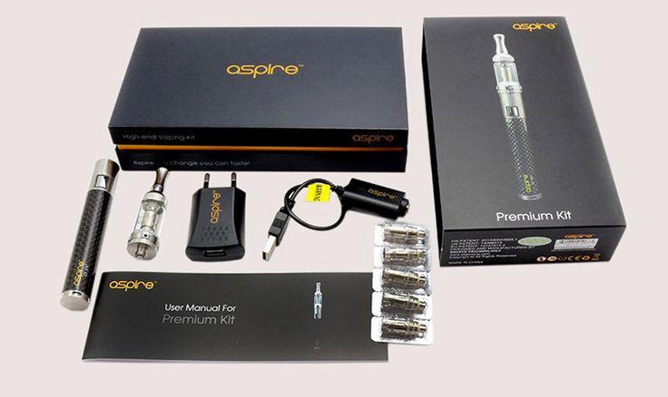 """De Aspire Premium kit bestaat uit een Aspire CF VV + batterij en een Nautilus Mini. Nautilus Mini: De Nautilus Mini is de volgende generatie van de tank systemen. Gemaakt van roestvrij staal en Pyrex glas, de Nautilus Mini maakt gebruik van de Aspire """"BVC"""" (Bodem Verticale Coil) verstuiver-technologie https://www.e-rokershop.nl"""