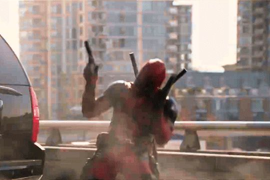 Suck on this! #deadpool #deadpool movie scene #wade wilson #ryan reynolds #funny moments deadpool