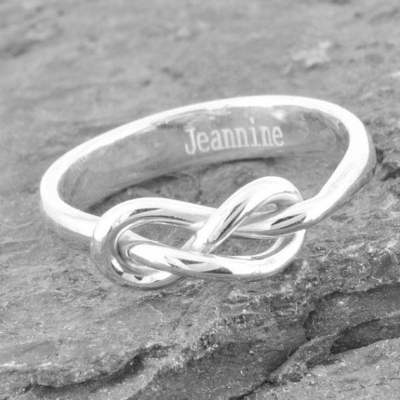 Check out this item in my Etsy shop https://www.etsy.com/listing/207372562/infinity-ring-engraving-ring-knot-best