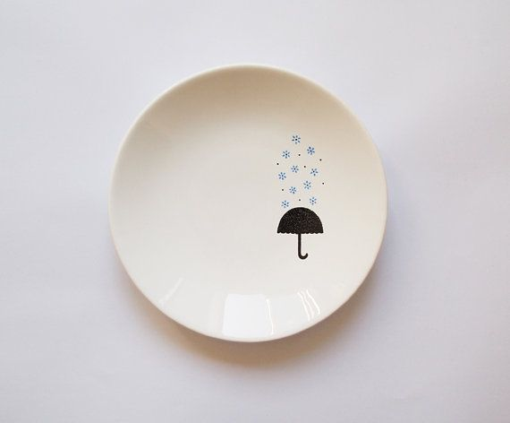 Blue rain plate by Zuppa Atelier