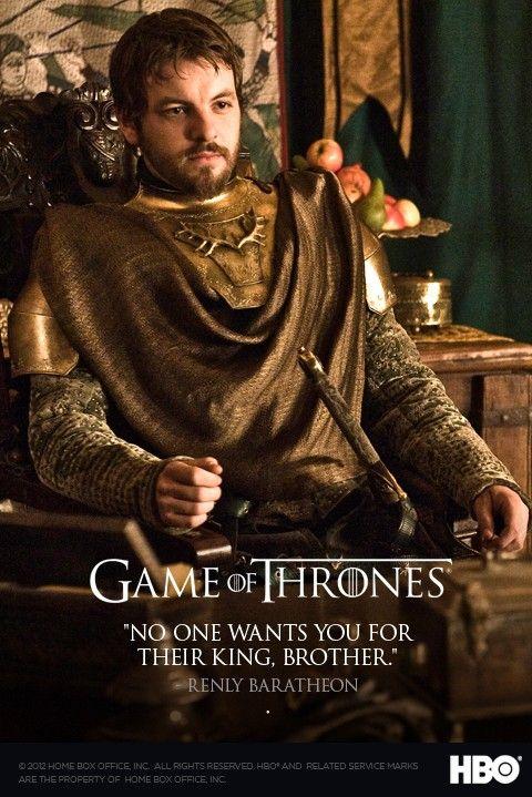 So long Renly Baratheon