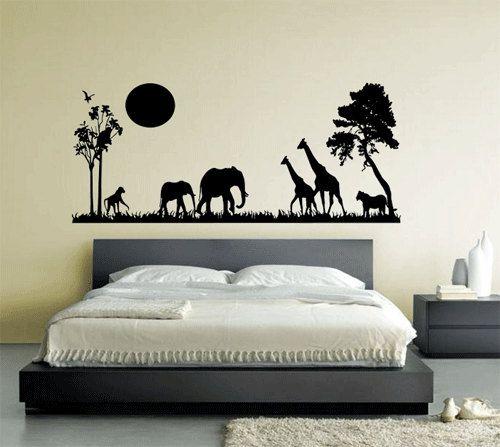 African Safari Animal Sillhouette Wall Art by WallfrogGraphics, £12.95