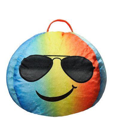 This Cool Shades Emoji Bean Bag is perfect! #zulilyfinds