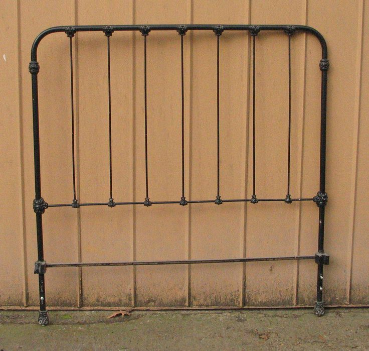 Vintage Metal Full Size Headboard For Bed Ready For Frame