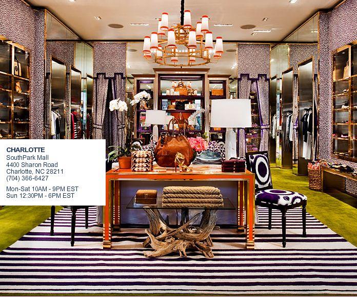 Tory Burch Boutique DecorCharlotte North CarolinaCloset DesignsDream ClosetsCommercial