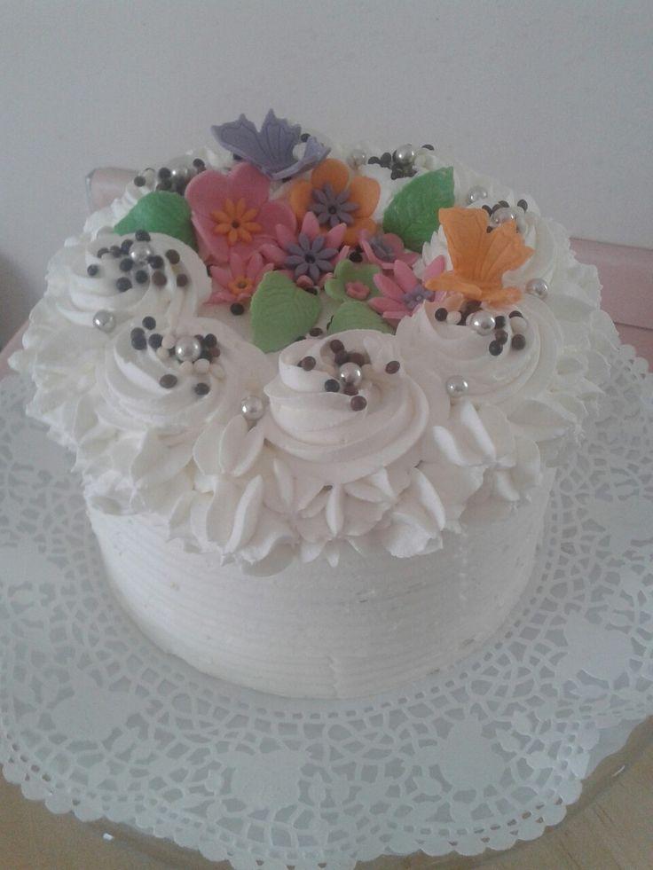 Csokoládės - Marcipános díszített torta