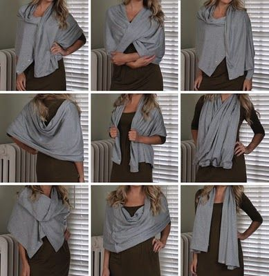 DIY version of Lululemon's Vinyasa scarf. Super easy and cheap and can be worn a million ways.