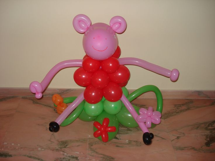 Peppa Pig   https://www.facebook.com/CreationBalloons?ref=bookmarks