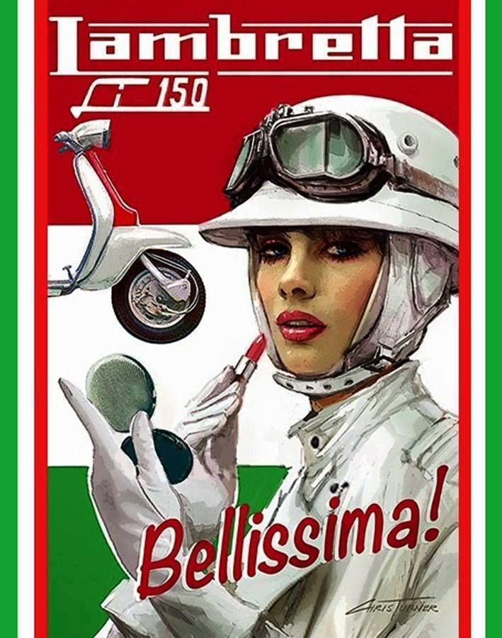 Lambretta Scooter Ad #Illustration #Artistic