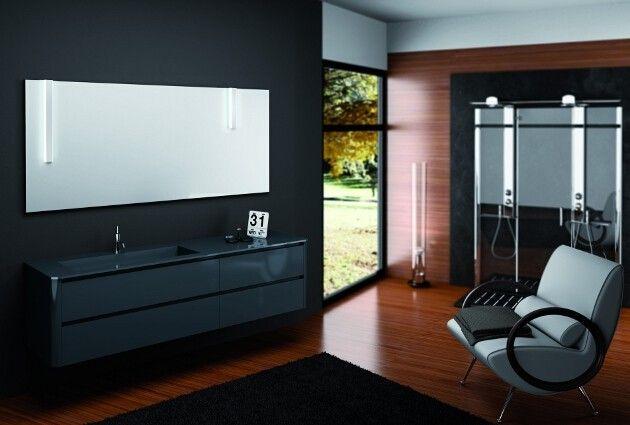 Fly - Punto Tre   #mobili #riccelli #mobiliriccelli #collection #bagno #bathroom #furniture #design #interior #moderndesign #home #indoor #puntotre #arredamento #casa #arredo #black #modern #style