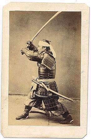 Samurai by Felice Beato: A pioneer in war photography and the photography of Japan, Felice Beato was the first photographer to devote himself entirely to photographing in Asia and the Near East. He photographed in Japan, India, Athens, Constantinople, the Crimea, and Palestine. He settled in Yokohama and from 1863 to 1877 made hundreds of portraits and scenics in Japan. Beato is reputed to have helped train the first generation of Japanese photographers.