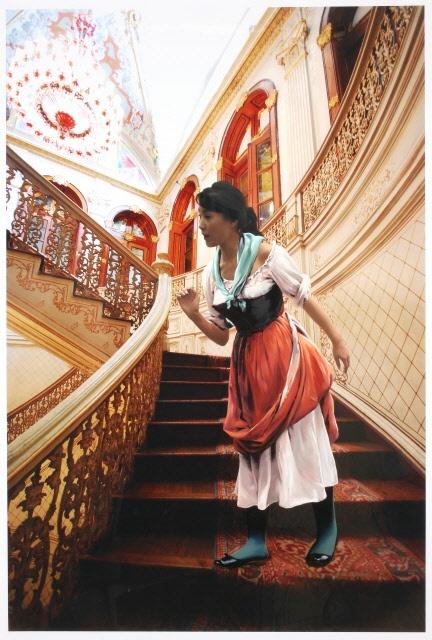 The Costume of Painter - E.D.Blass 080928  2008  oil on vinyl, vinyl on photograph  228 x 154cm
