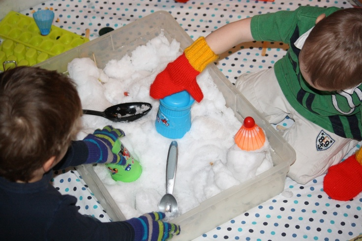 Winter sensory play: Bring the snow indoors!