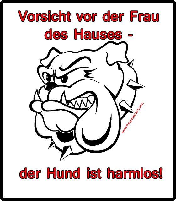 Sign-warnschild-hund-einbrecher-harmloser-Hund-frauchen