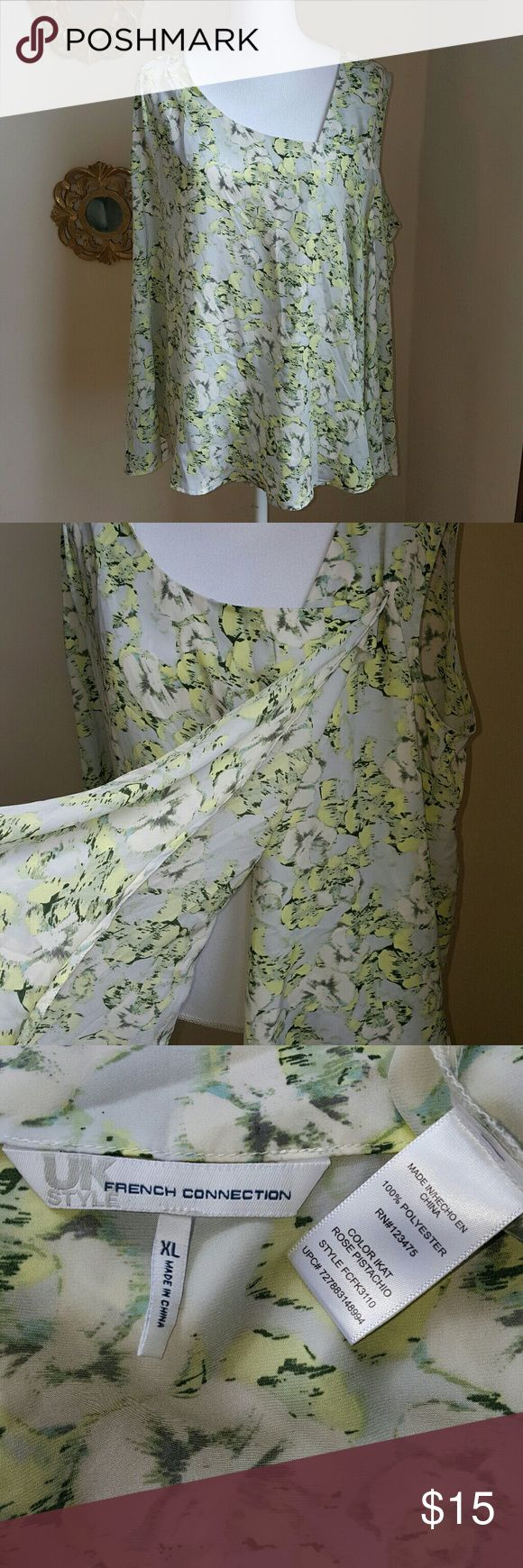Selling this ⬇️FCUK Light, Floral, (button) Wrap Top on Poshmark! My username is: amichellev. #shopmycloset #poshmark #fashion #shopping #style #forsale #French Connection #Tops