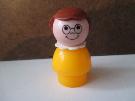 Vintage Fisher Price Little People  Girl with by ElainaKayCreates