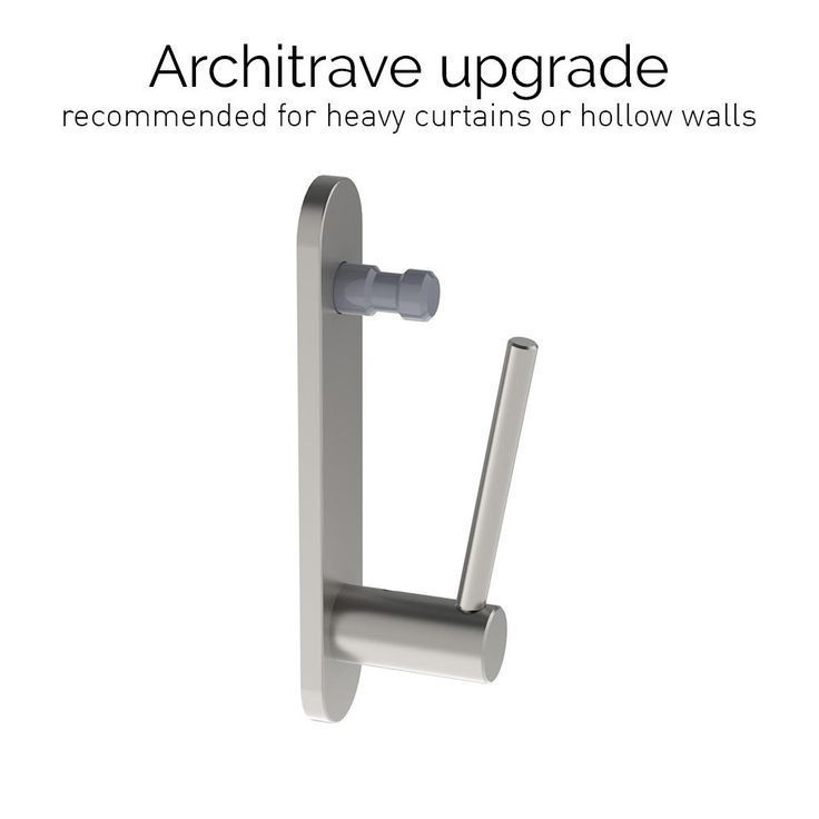 Stainless Steel Architrave Standard Bracket For 50mm Dia Pole