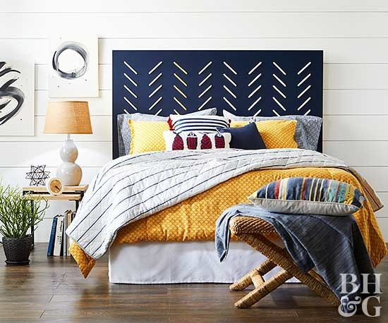 Want to save money on your next bedroom makeover? Make an awesome statement piece for your bedroom with these DIY headboard ideas.
