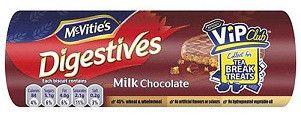 Mcvities Digestive Biscuits Milk Chocolate 300gr (10.5ozs)-pack 4