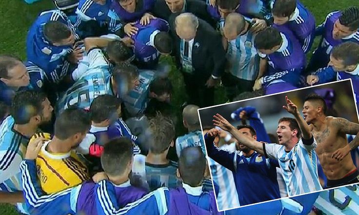 Did Messi's team talk inspire Argentina to semi-final victory?