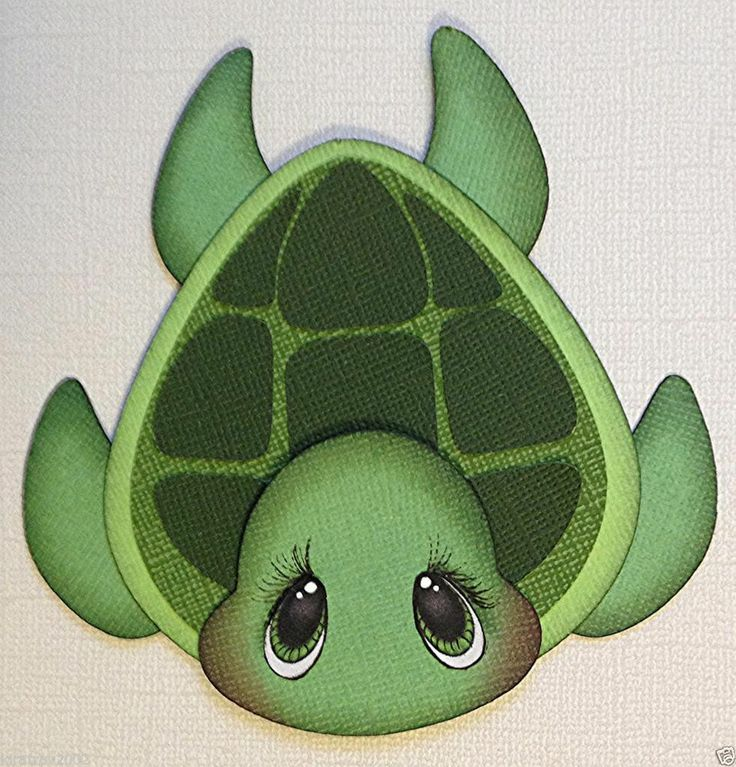PREMADE MARINE PAL SEA TURTLE ANIMAL PAPER PIECING BY MY TEAR BEARS KIRA