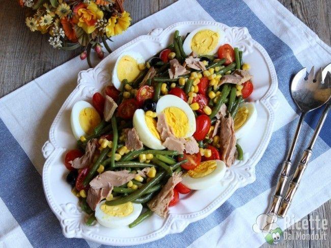 Ricetta per Insalata di fagiolini, tonno e uova