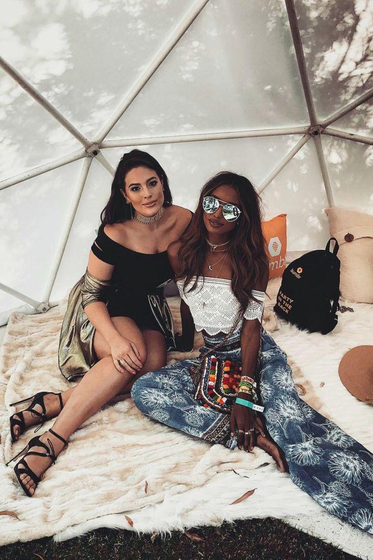 Ashley Graham & Jasmine Tookes Coachella 2017