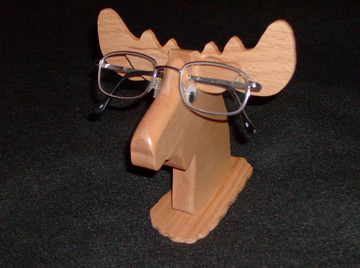 Wood worked Moose Eye Glass Holder
