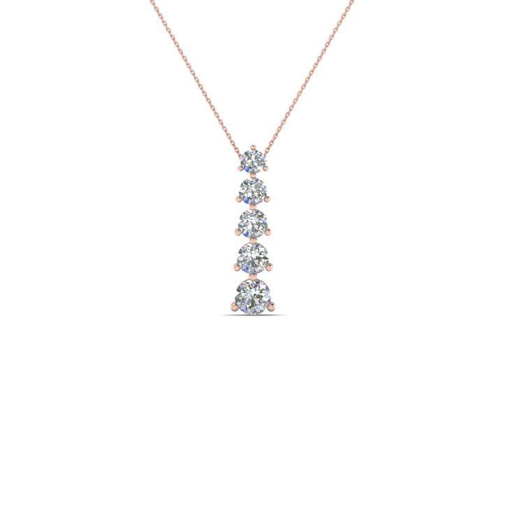 195 best pendants necklaces images on pinterest drop necklace 5 stone graduated drop pendant necklace mozeypictures Gallery