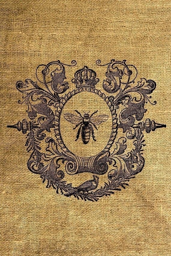 Queen Bee Printable Image for Iron On transfers- $1.00
