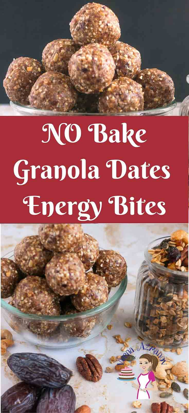 These no bake sugar free granola date energy bites make great snack for those evening hours when you crave for something sweet and indulgent like cookies. The sweetness of the dates and added nutrition from the nuts make these a great light, nutritious energy packed snack before workouts too. via @Veenaazmanov