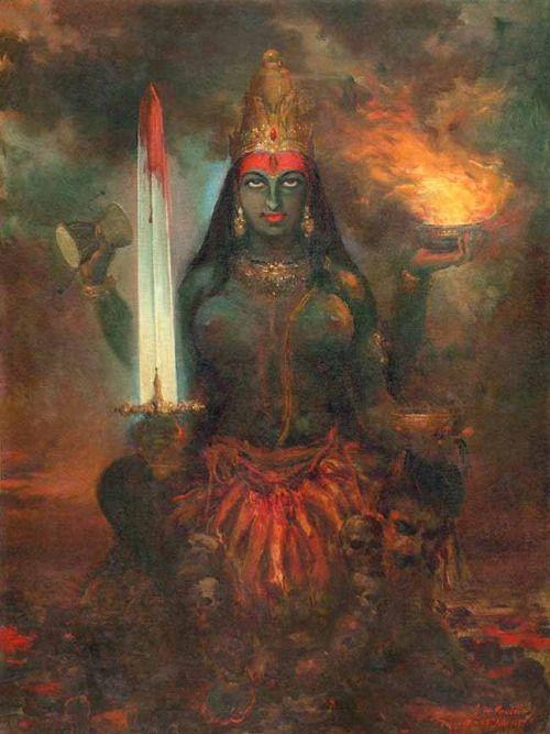 Goddess Kali - S.M Pandit, 1956.