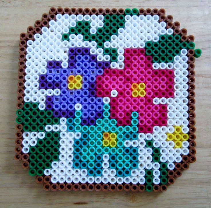 Wall Flowers perler beads by Mango Mayhem