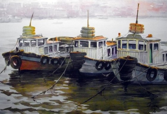 Ömer Muz'dan... Ömer Muz ile suluboya resim çalışmaları Hobi Sanat Merkezi'nde....