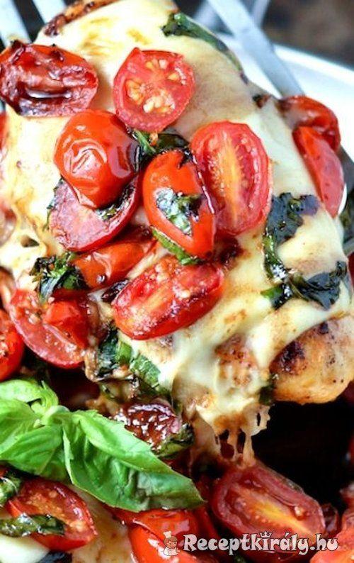 Mozzarellás paradicsomos csirke recept képpel. Elkészítés és hozzávalók leírása, 1 órás, 4 főre, Egyszerű, Glutén mentes