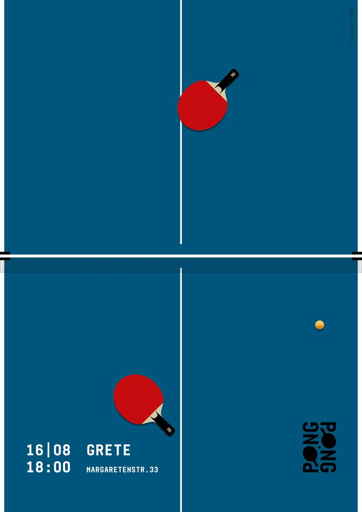 Ping Pong / Poster // Graphic Design, Illustration © 2016 Christian Chladny