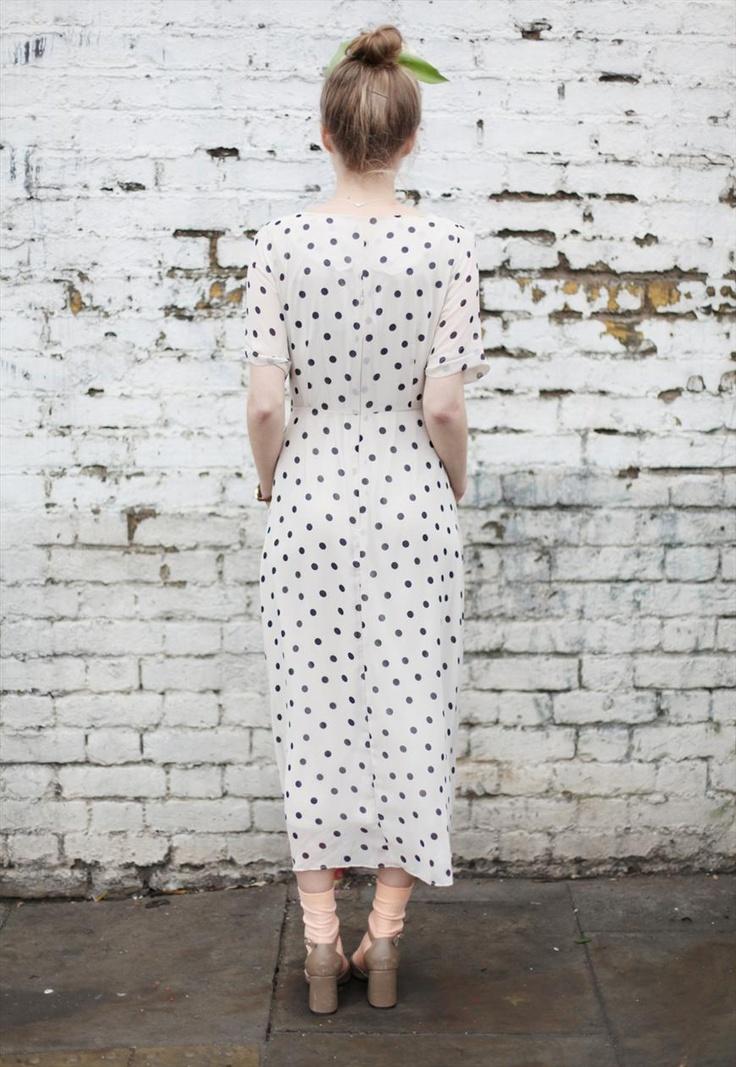 Polka Dot Sheer Long Dress