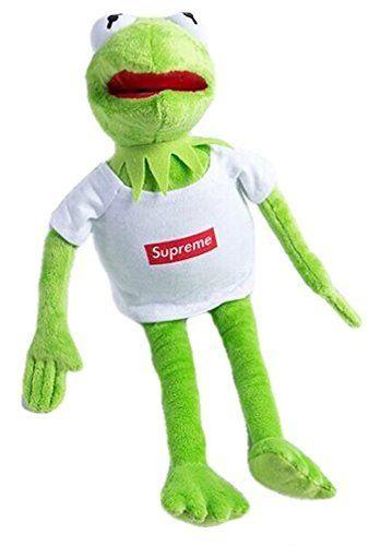 Kermit wearing Supreme Plush Toy - Kermit the Frog from Sesame Street in  Supreme Box Logo (Bogo) Shirt Doll - Custom Soft Muppet d1fedb260ccc