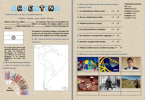 Fiche d'activités sur l'Argentine http://espagnol.hispania.over-blog.com/article-viajar-por-argentina-122865905.html