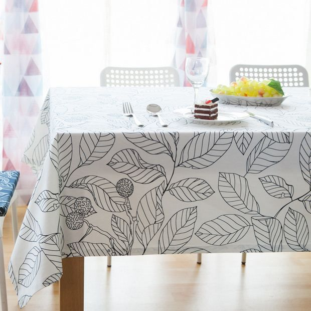 High Quality Europe Style Cotton Table Cloth Leaf Printed Rectangular Table Covers Party Kitchen Tablecloth Free. Click visit to buy #Tablecloth