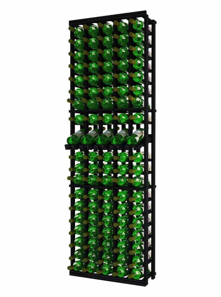 Traditional Series 5 Column Individual Wine Rack with Display Row