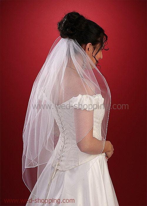 Bruidssluiers tweelaags disponibel in wit en ivoor