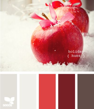 holiday hues - I can see these colours in a kitchen, maybe with some more woody brown