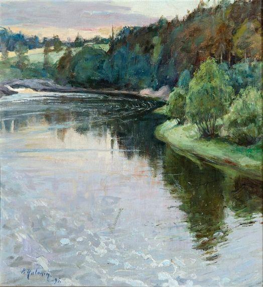 Pekka Halonen, MYLLYKYLÄ, 1895, The Life and Art of Pekka Halonen - http://www.alternativefinland.com/art-pekka-halonen/