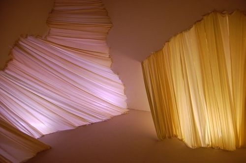 Fabric Installation @ Lewis Center by carlietrosclair, via Flickr