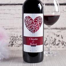 Personalizowane Czerwone Wino LOVE idealny na urodziny
